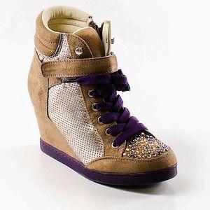 Princess Vera Wang Wedge Sneakers